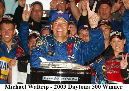 Michael Waltrip 2003 Daytona 500 winner
