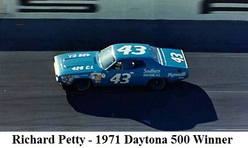Richard Petty 1971 Daytona 500 Winner
