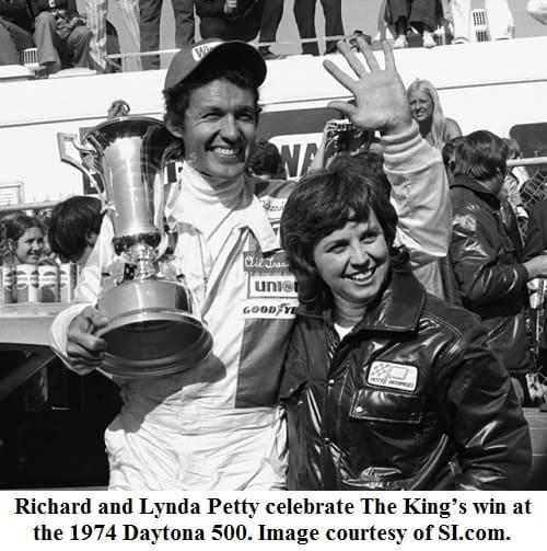 Richard-and-Lynda-Petty 1974 daytona 500 winner