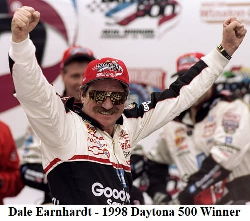 Dale Earnhardt 1998 Daytona 500 winner