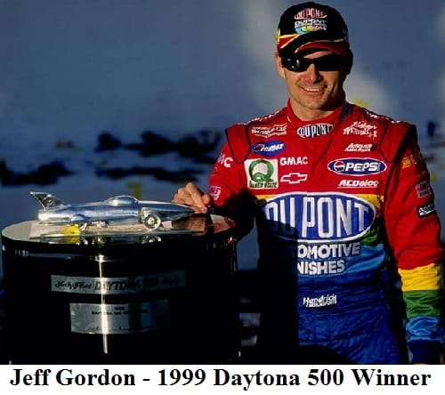jeff gordon 1999 daytona 500 winner