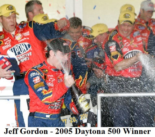 2005 Daytona 500 winner Jeff Gordon