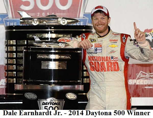 Dale Earnhardt Jr. 2014 Daytona 500 winner