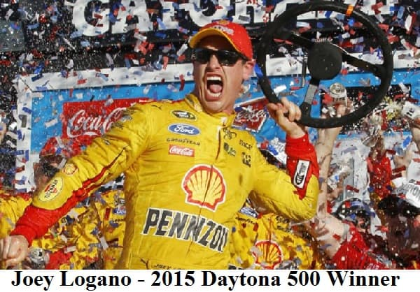 joey logano 2015 daytona 500 winner