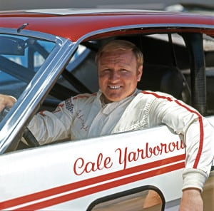 Cale Yarborough sits in his #21 Wood Brothers car circa 1969