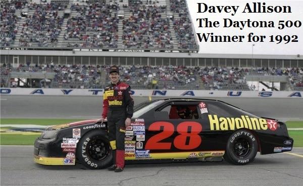 Davey Allison 1992 Daytona 500 winner